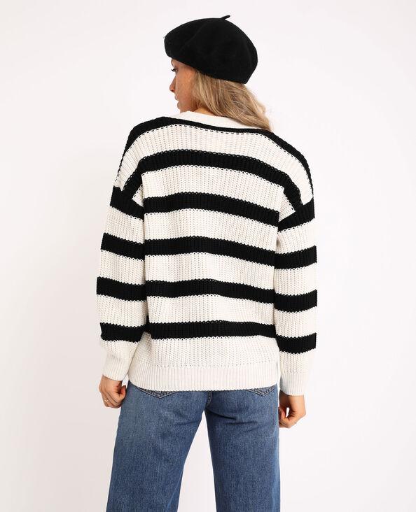Dik tricot vestje zwart