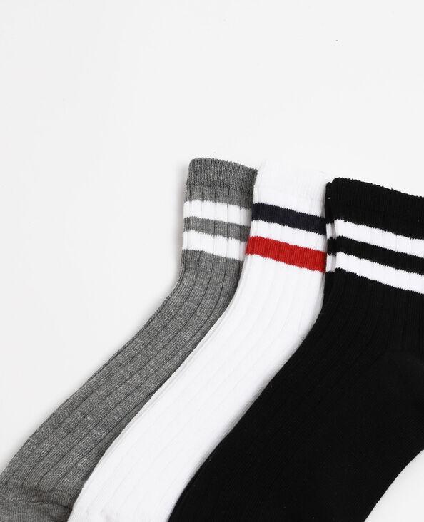 Lot de 3 paires de chaussettes sport noir