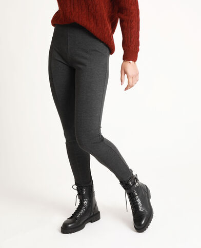 Legging mid waist gris chiné