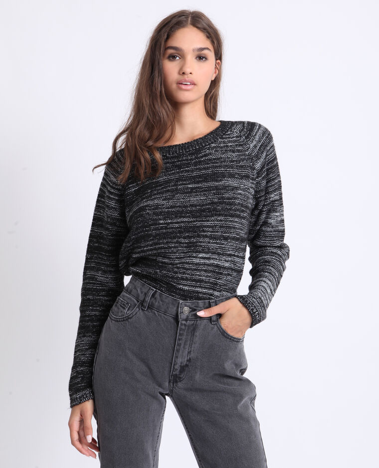 Pull chiné gris