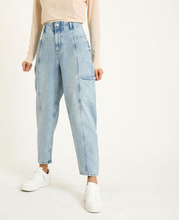 Slouchy jeans verwassen blauw