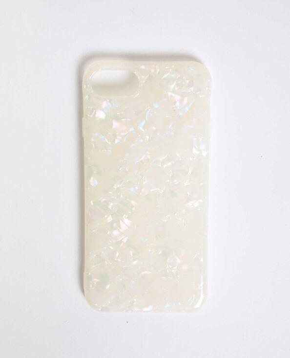 Glanzend iPhone-hoesje ecru