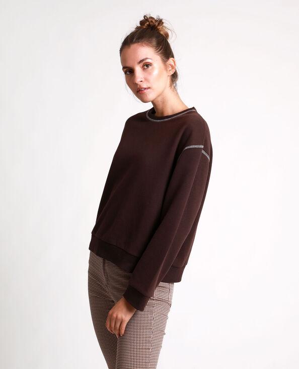 Basic sweater kastanjebruin