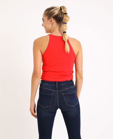 Cropped top à bretelles rouge