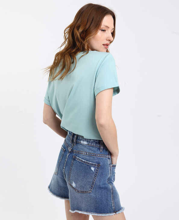 T-shirt imprimé vert d'eau