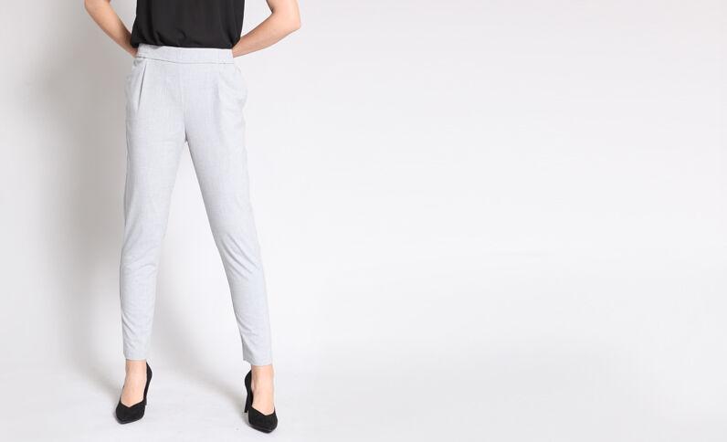 Pantalon city gris chiné