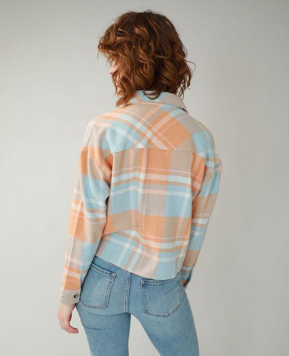 Hemd met ruitjes oranje - Pimkie