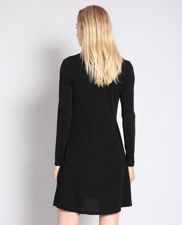 Robe trapèze lurex noir