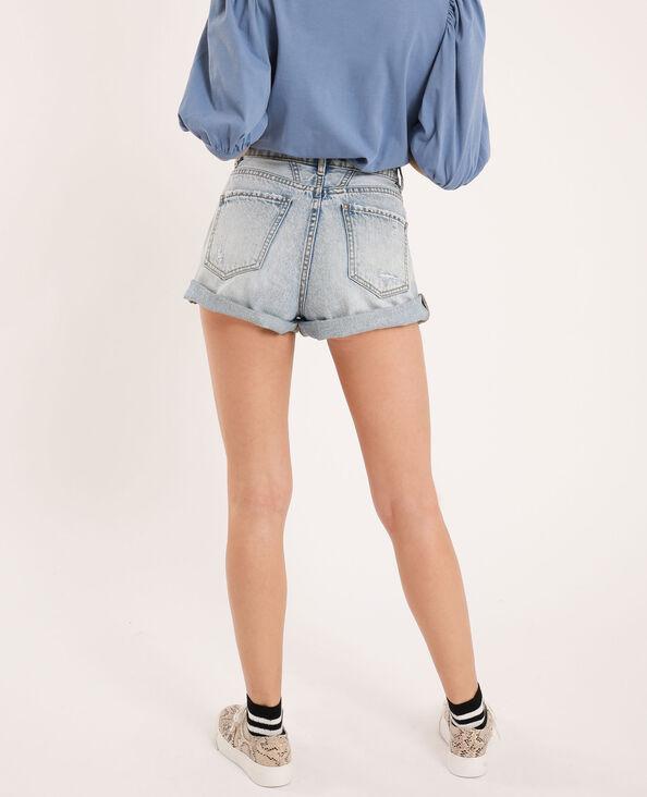 Short en jean destroy bleu délavé - Pimkie