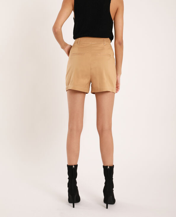 Short fluide beige sable
