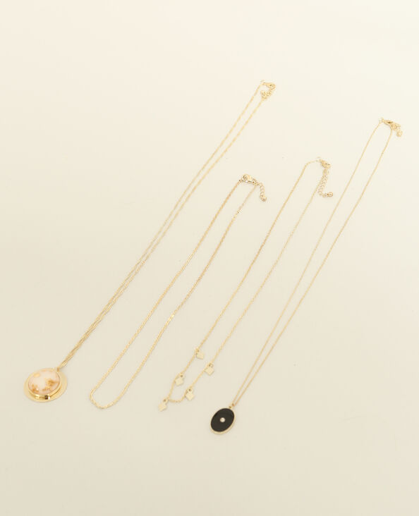 Set van 4 halssnoeren goudkleurig