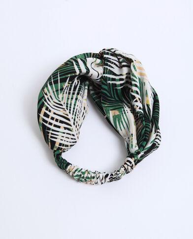 Haarband met tropische print groen