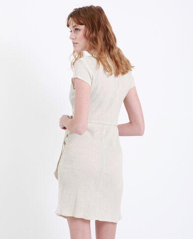 Gekruiste jurk beige