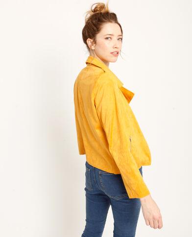 Veste suédine jaune