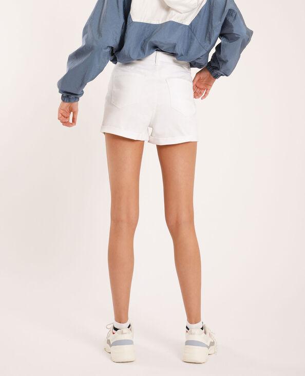 Jeansshort met hoge taille wit