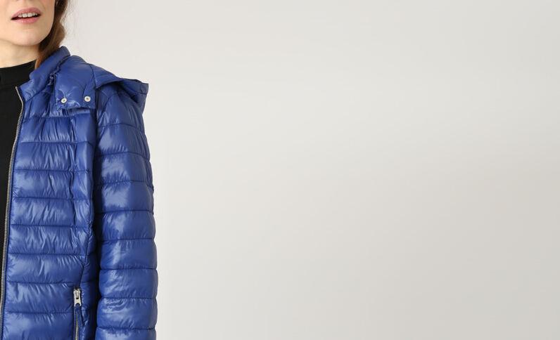 Doudoune légère bleu foncé
