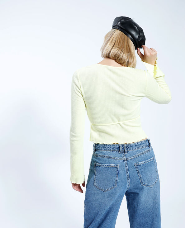 T-shirt croisé jaune - Pimkie
