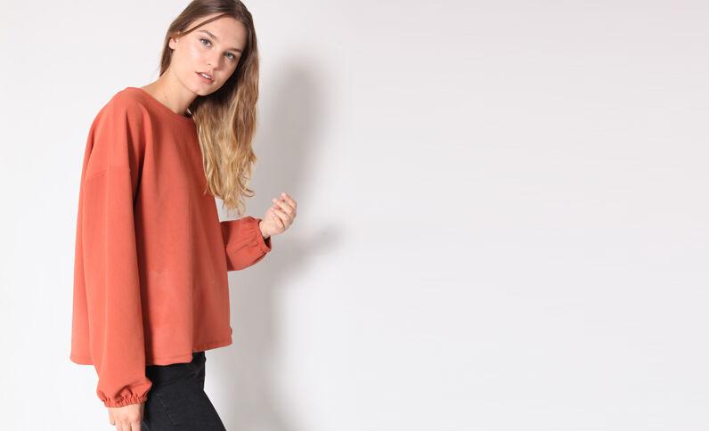 Oversized sweater terracotta