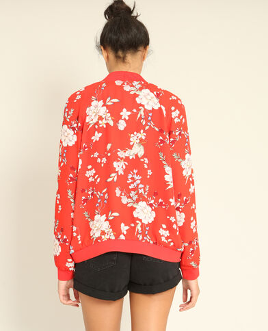 Fleurig bomberjasje rood