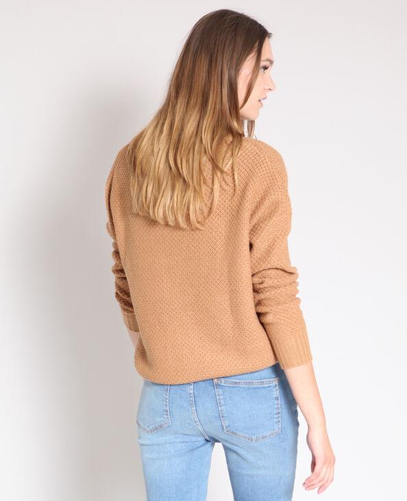 Trui in origineel tricot zandbeige
