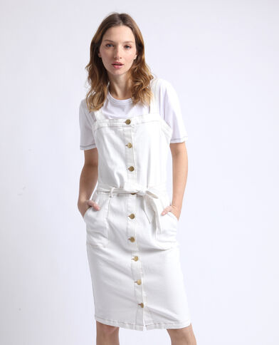 Jeansjurk wit