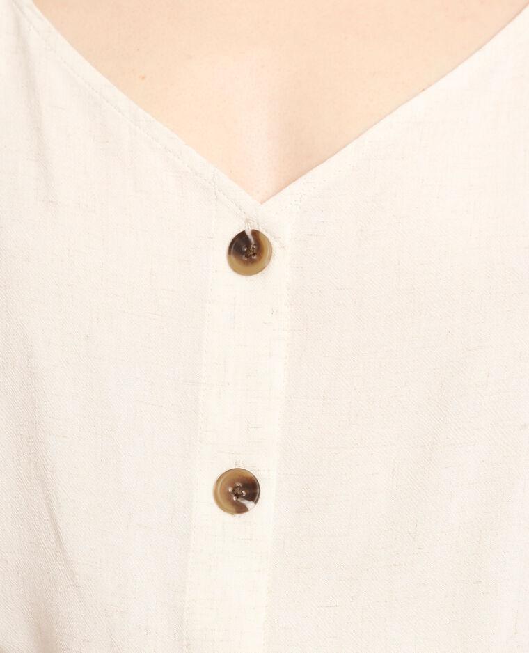 Topje met dunne schouderbandjes beige