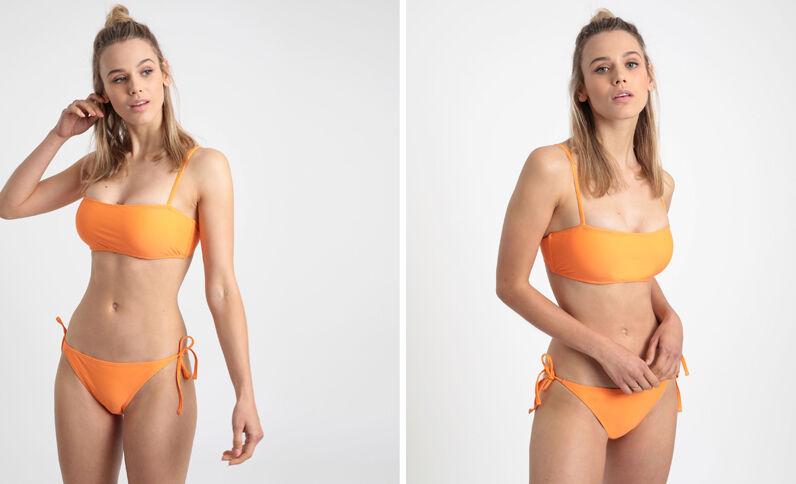 Haut de bikini bandeau Pêche