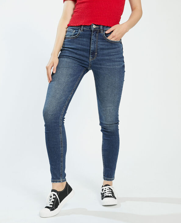 Jean push up high waist bleu brut - Pimkie