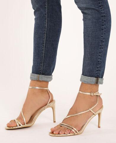 Sandalen met hakken geel