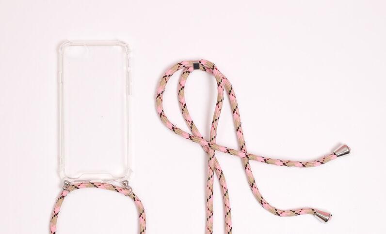 iPhone-hoesje met koordje wit