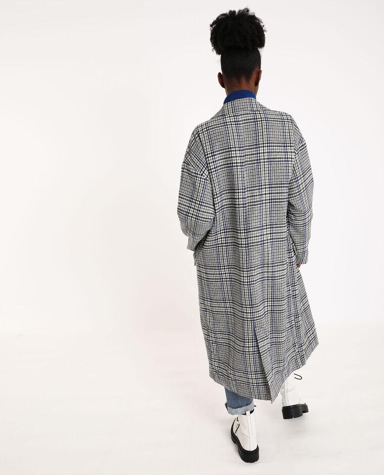Lange rechte jas grijs