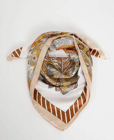 Zijdeachtig vierkant sjaaltje wit - Pimkie