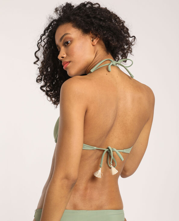 Bandeau-bikinitop groen