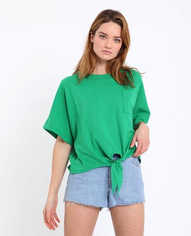 T-shirt om vast te knopen groen