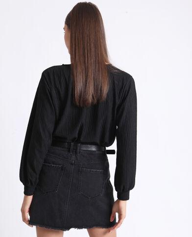 T-shirt à manches longues noir