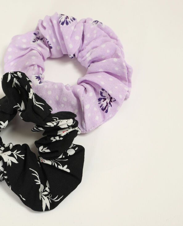 Set van 2 scrunchies violet