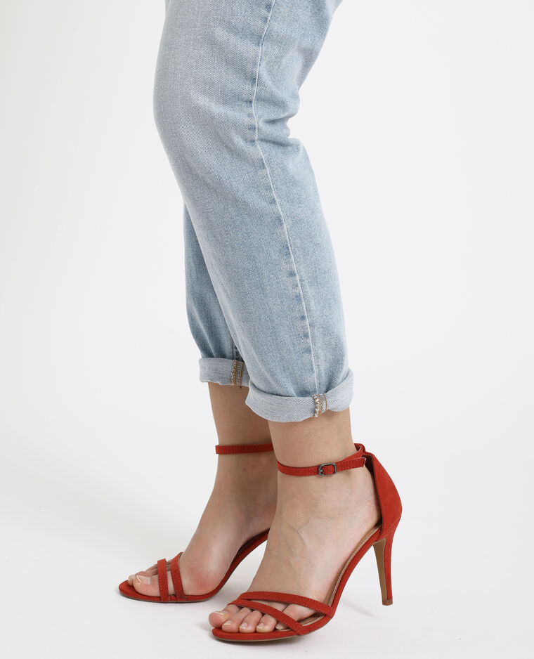 Sandalen met naaldhakken roestkleur