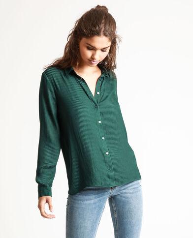 Satijnen hemd groen