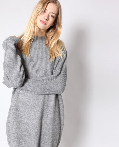 Robe pull gris