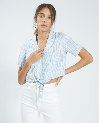Cropped blouse violet - Pimkie