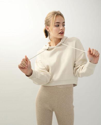 Sweater met kap beige