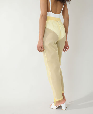 Transparante broek geel - Pimkie