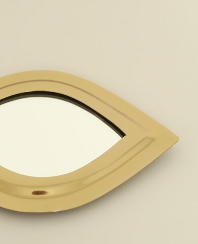 Spiegeltje in oogvorm goudkleurig