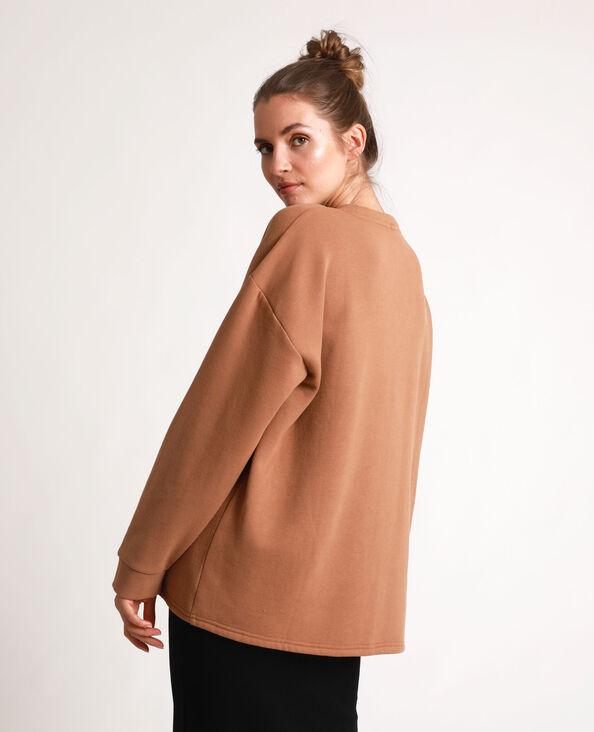 Oversized sweater karamel