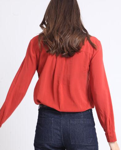 Basic hemd roestkleur