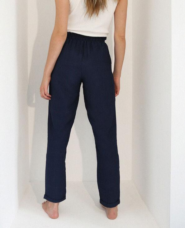 Pantalon fluide bleu marine - Pimkie