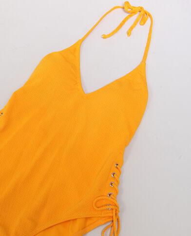 Maillot une pièce à dos nu Orange
