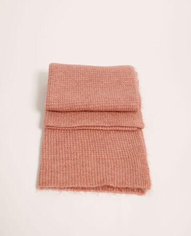 Sjaal van gewafelde stof poederroze - Pimkie