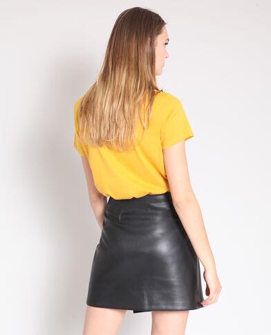 Bedrukt T-shirt geel