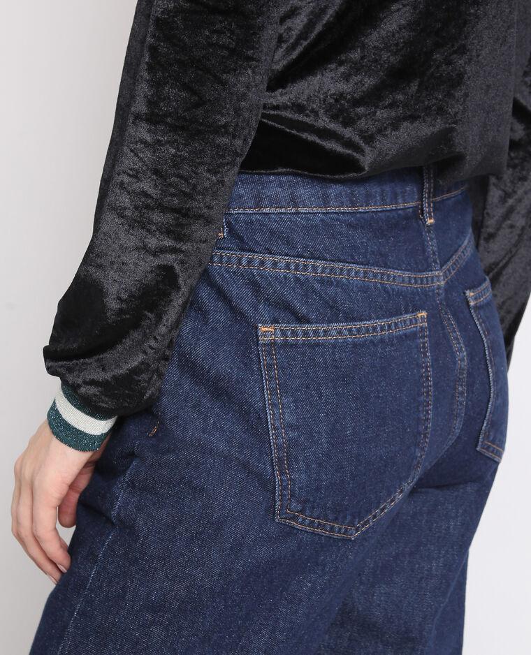 Rechte jeans met middelhoge taille donkerblauw